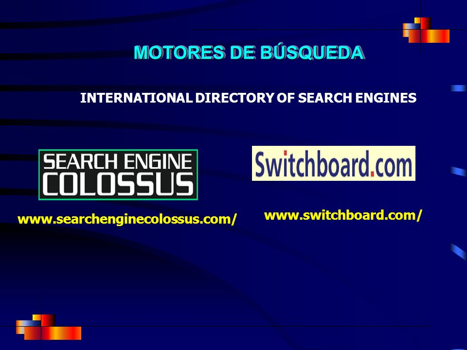 INTERNATIONAL DIRECTORY OF SEARCH ENGINES