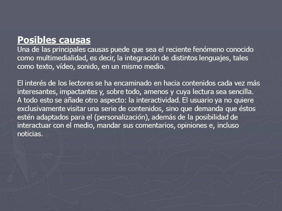 Posibles causas