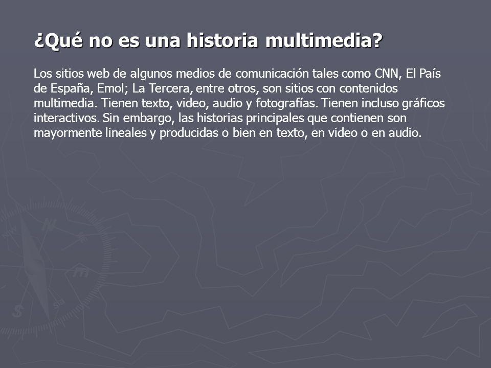 ¿Qué no es una historia multimedia