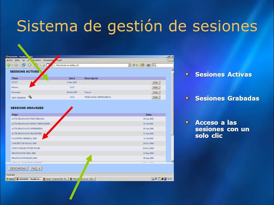 Sistema de gestión de sesiones