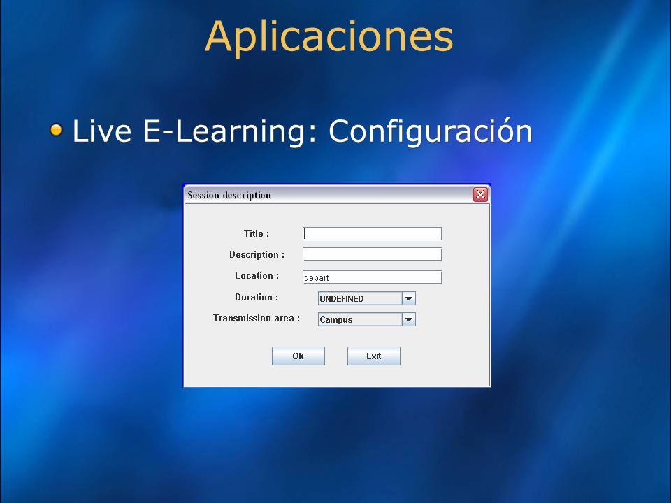 Aplicaciones Live E-Learning: Configuración Academias  autenticación