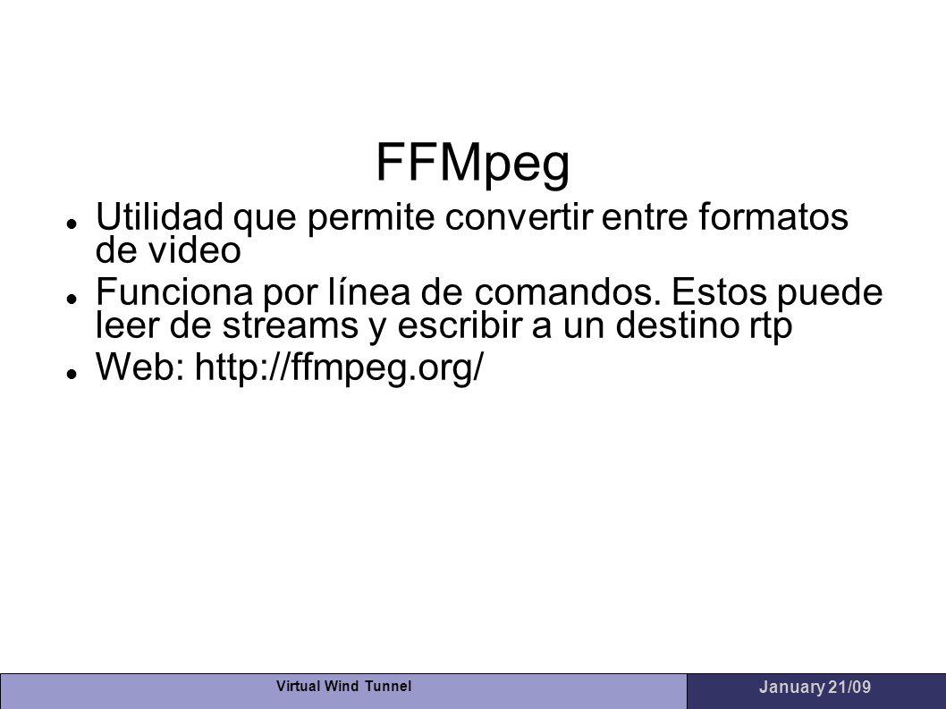 FFMpeg Utilidad que permite convertir entre formatos de video