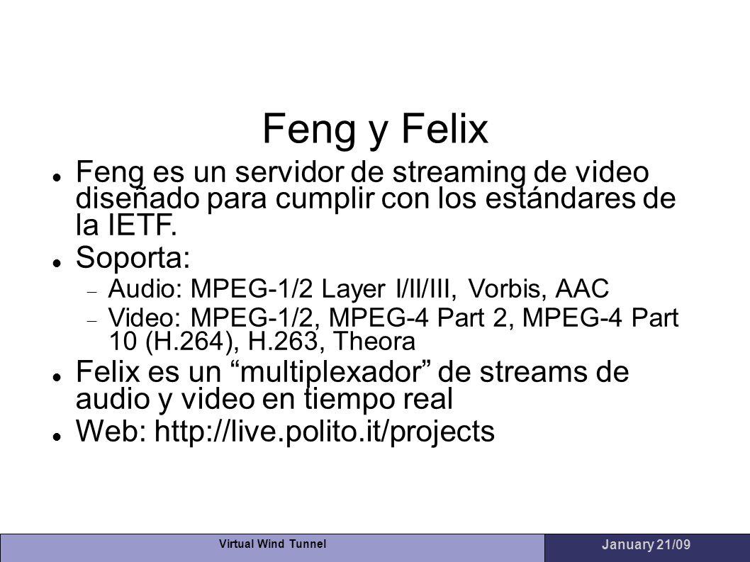 Feng y Felix Feng es un servidor de streaming de video diseñado para cumplir con los estándares de la IETF.