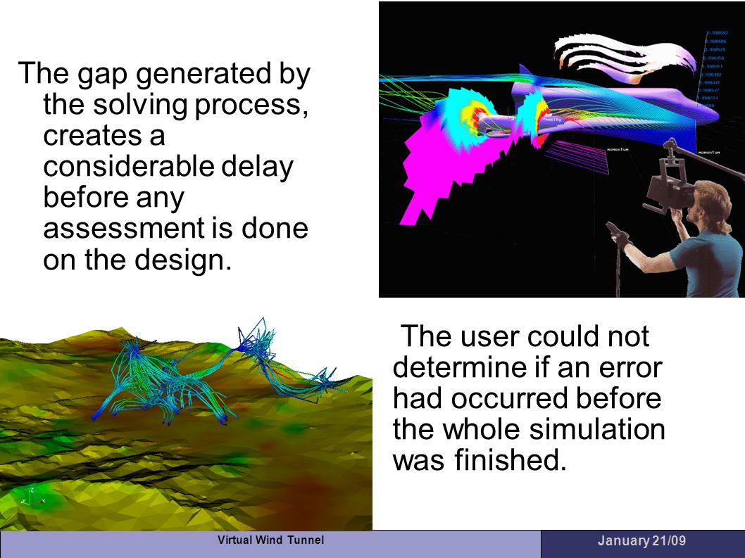 The gap generated by the solving process, creates a considerable delay before any assessment is done on the design.
