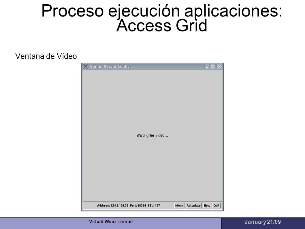 Proceso ejecución aplicaciones: Access Grid