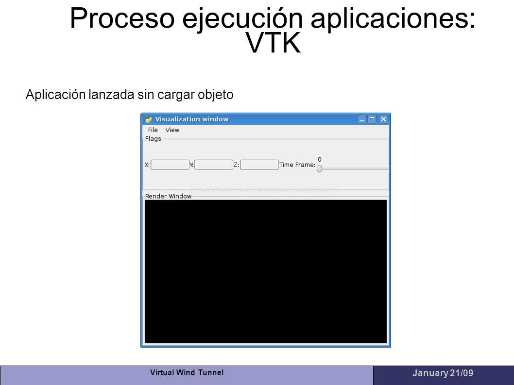 Proceso ejecución aplicaciones: VTK