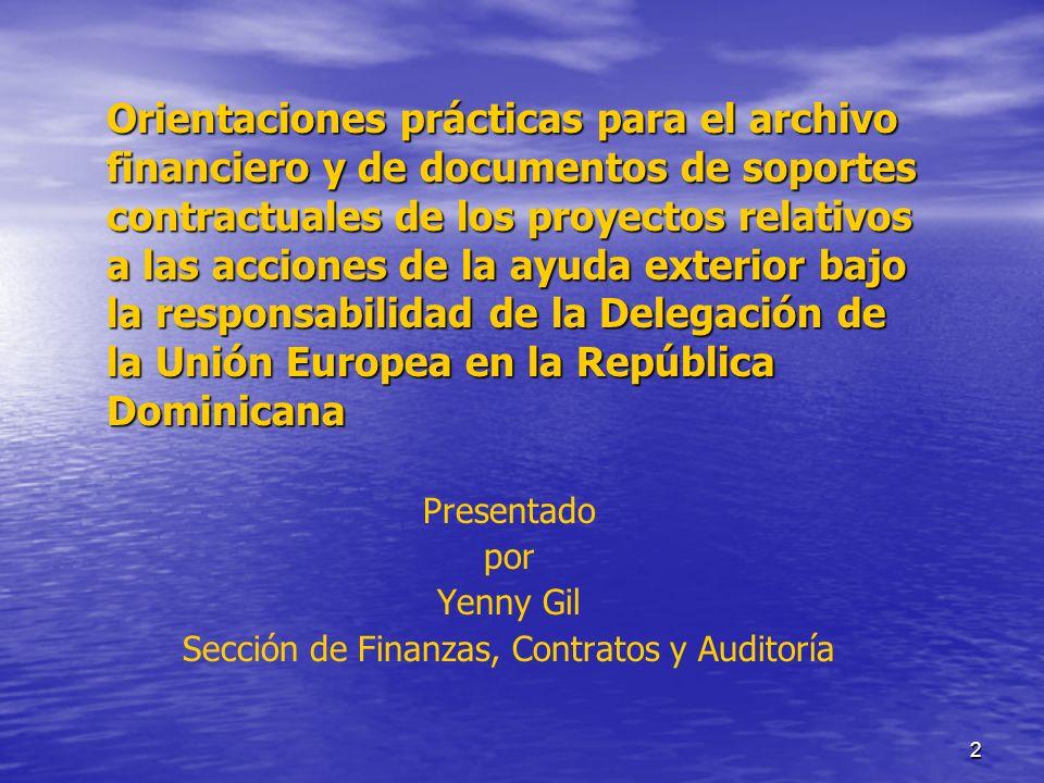 Sección de Finanzas, Contratos y Auditoría