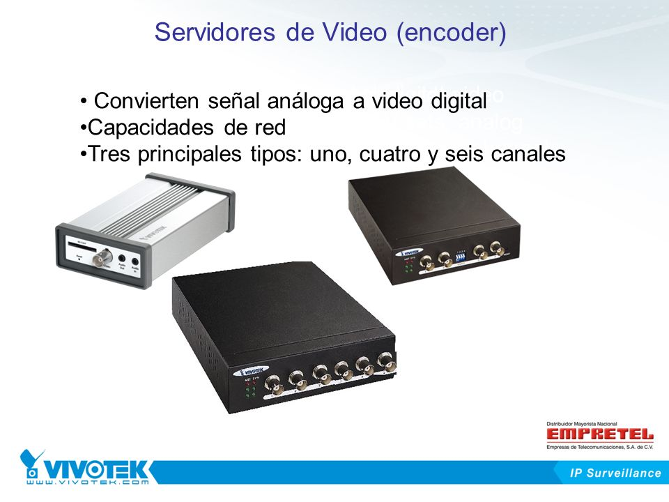Servidores de Video (encoder)