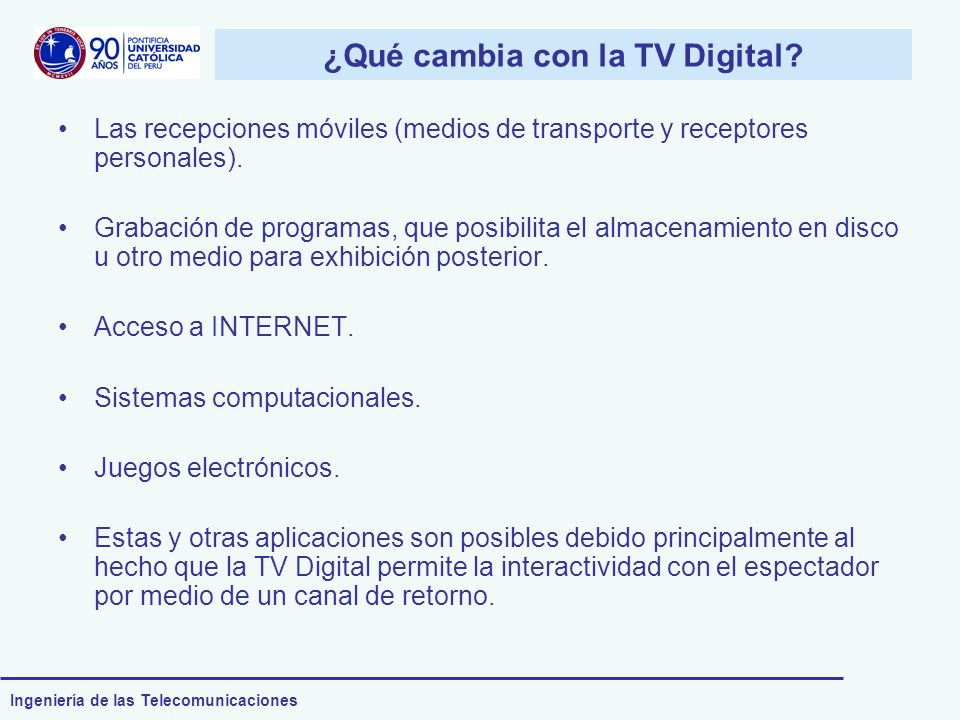 ¿Qué cambia con la TV Digital