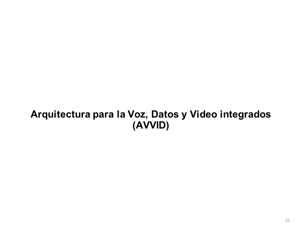Arquitectura para la Voz, Datos y Video integrados (AVVID)