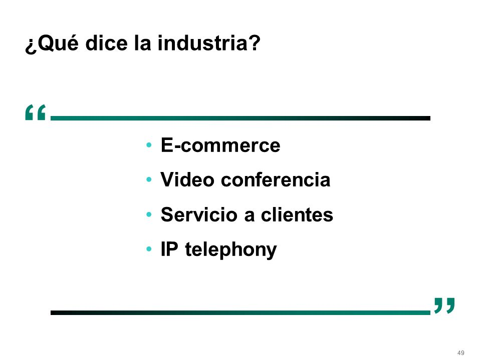 ¿Qué dice la industria E-commerce Video conferencia