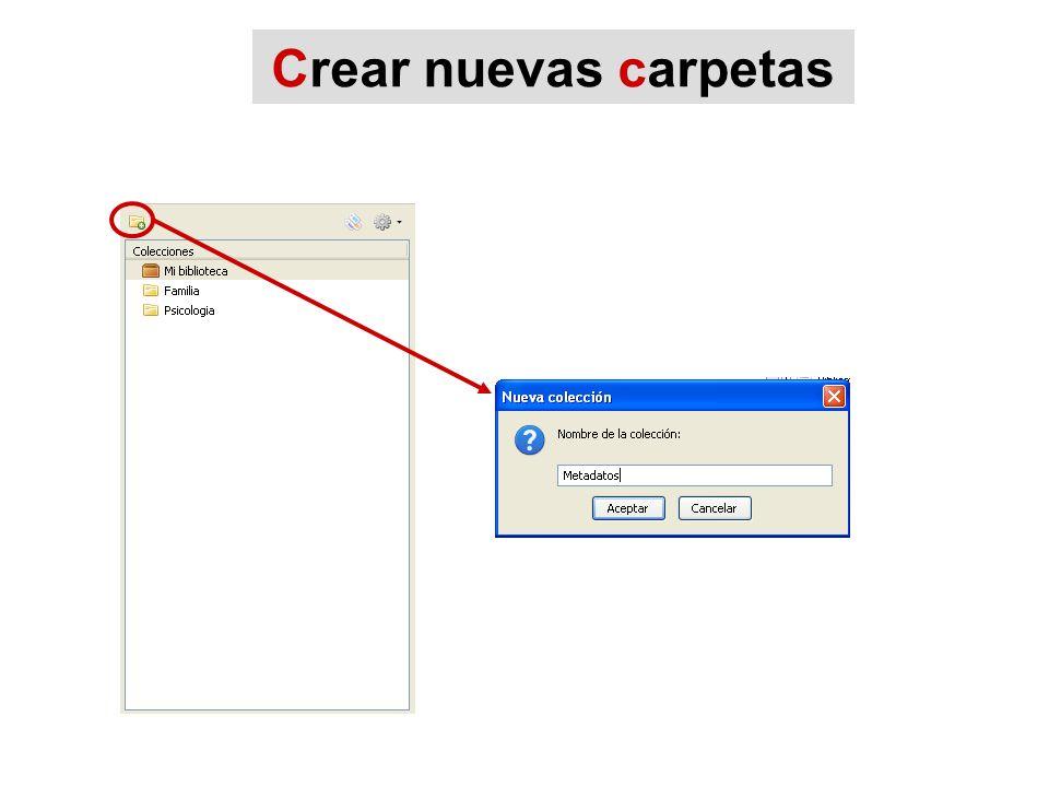 Crear nuevas carpetas