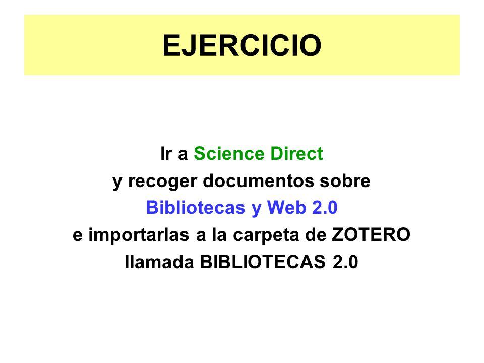 y recoger documentos sobre e importarlas a la carpeta de ZOTERO