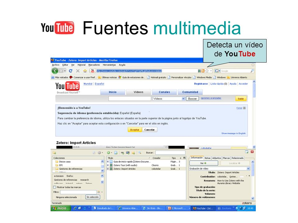 Detecta un vídeo de YouTube