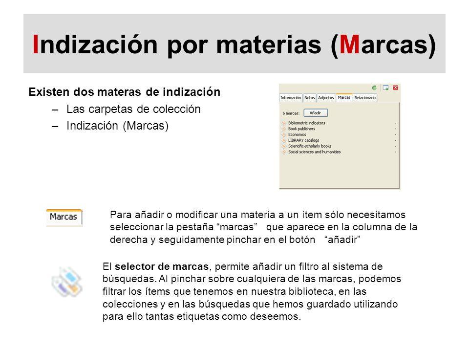 Indización por materias (Marcas)