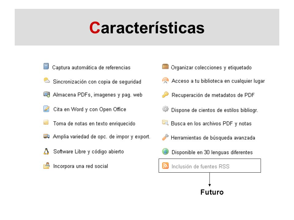 Características Futuro