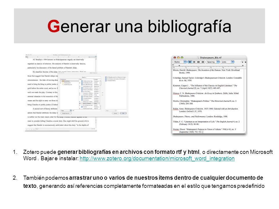 Generar una bibliografía