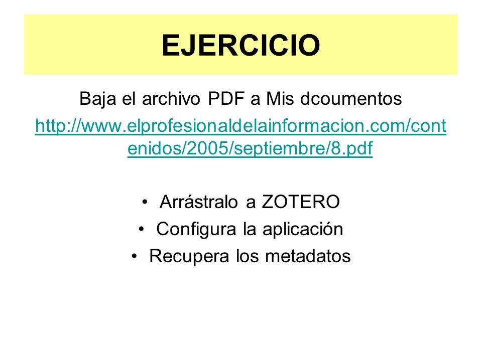 EJERCICIO Baja el archivo PDF a Mis dcoumentos