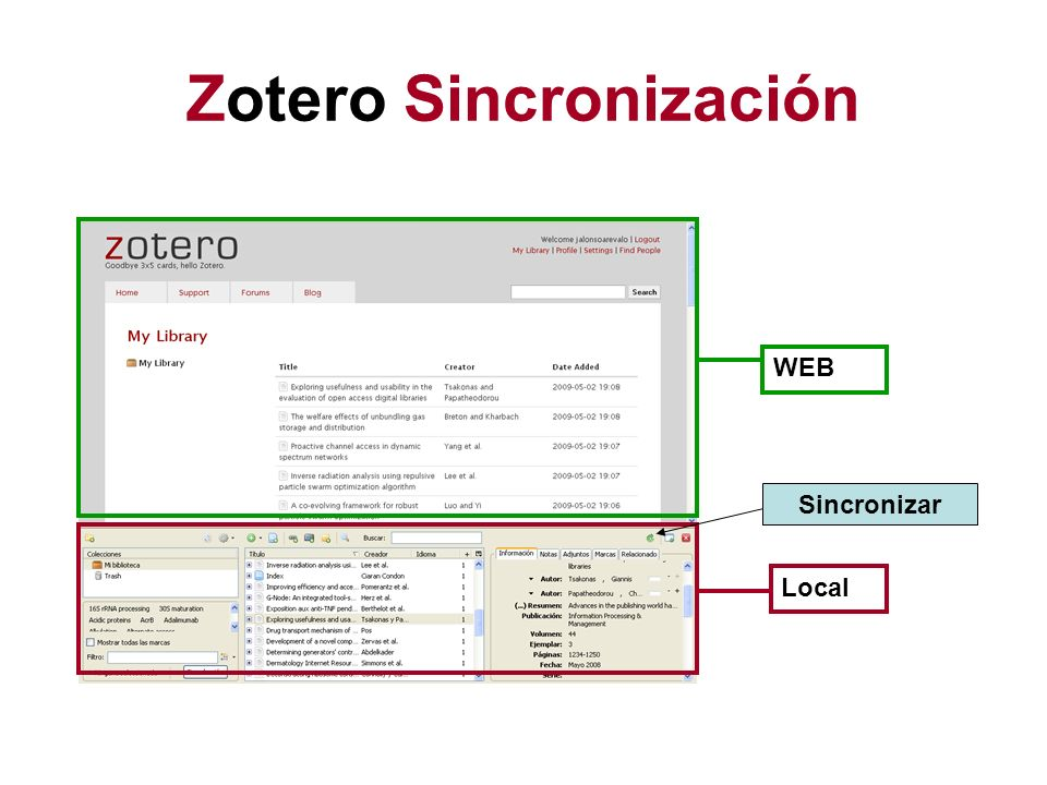 Zotero Sincronización