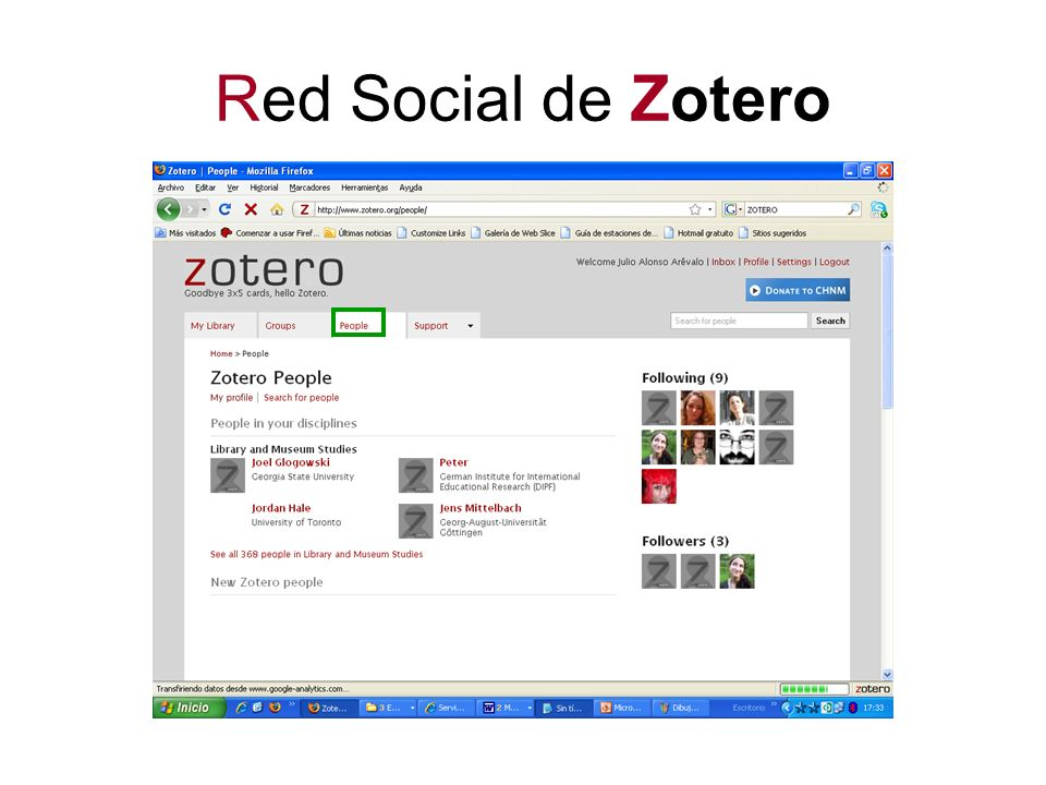 Red Social de Zotero