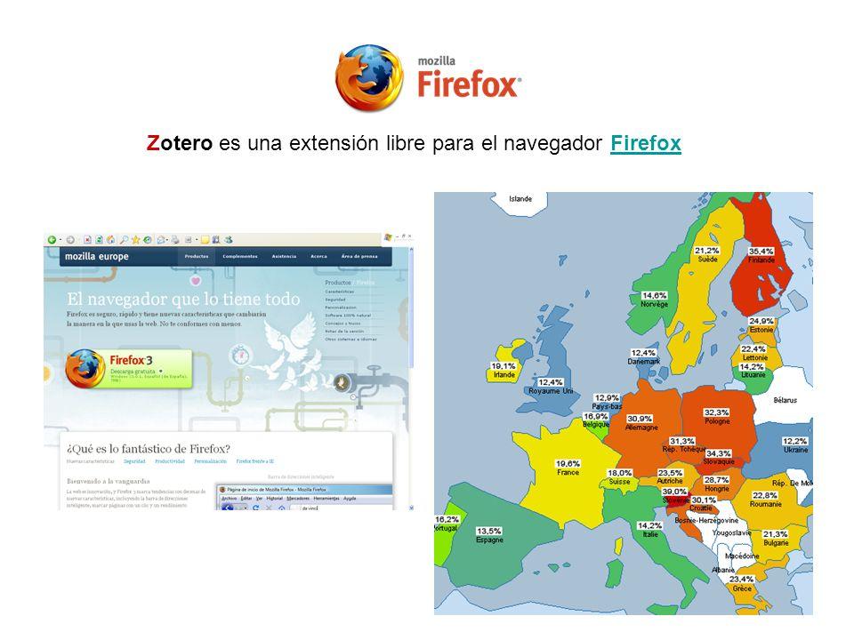 Zotero es una extensión libre para el navegador Firefox
