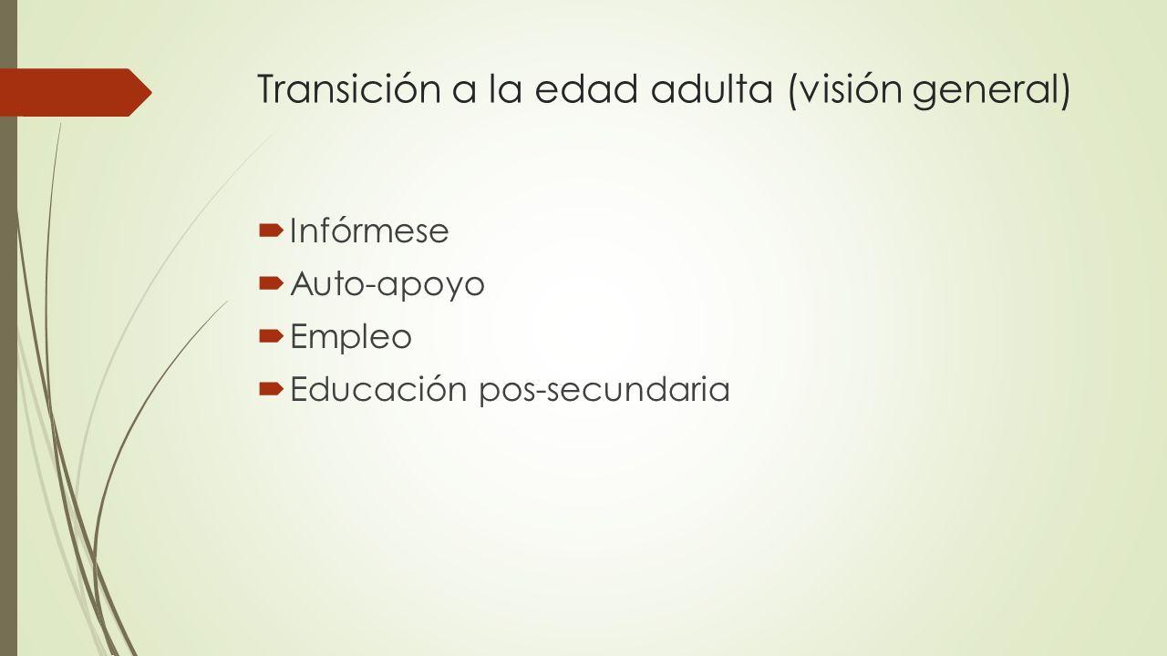Transición a la edad adulta (visión general)
