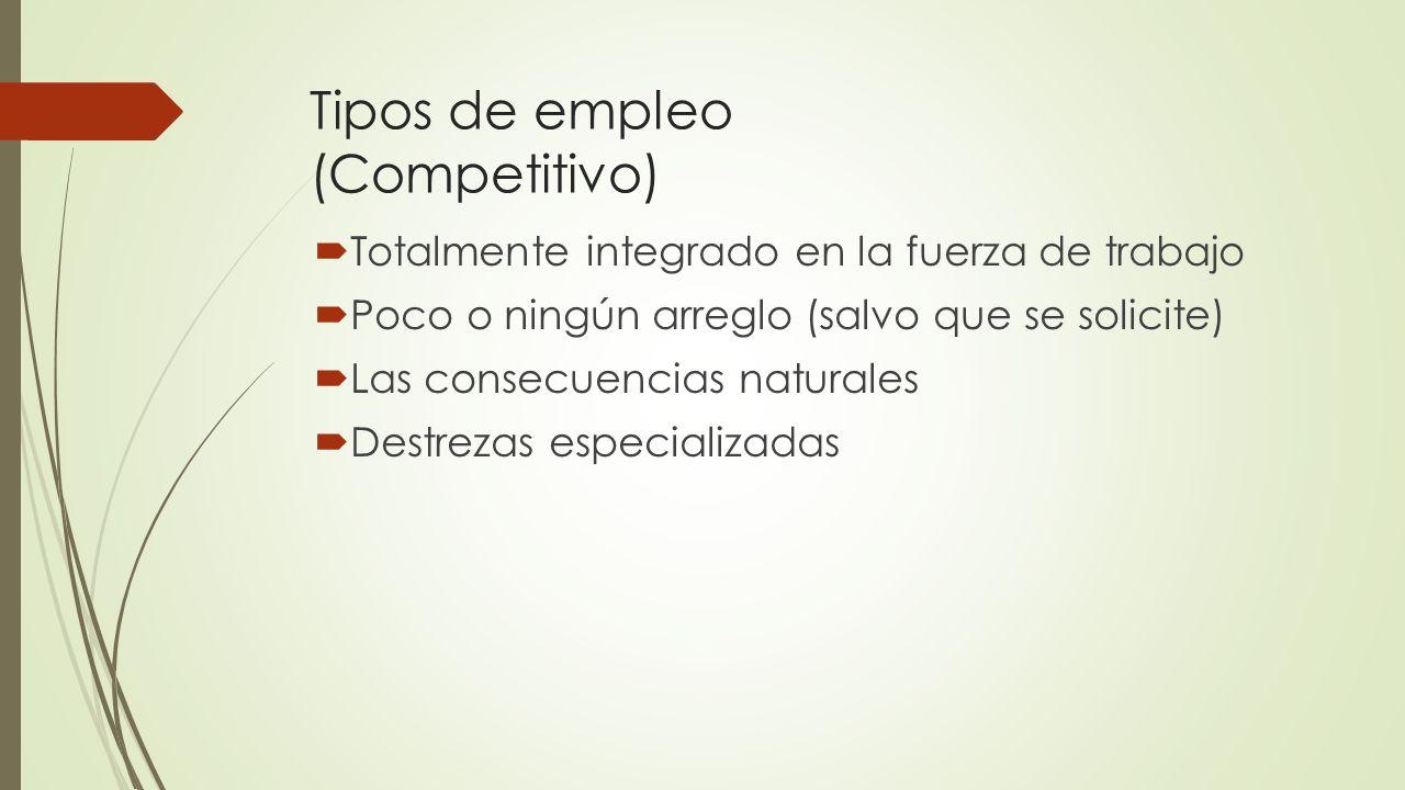 Tipos de empleo (Competitivo)
