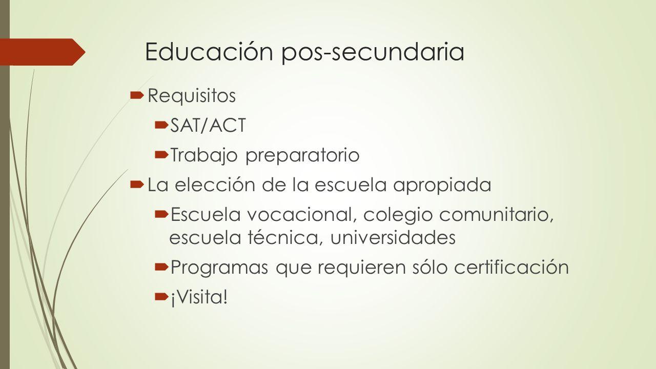 Educación pos-secundaria