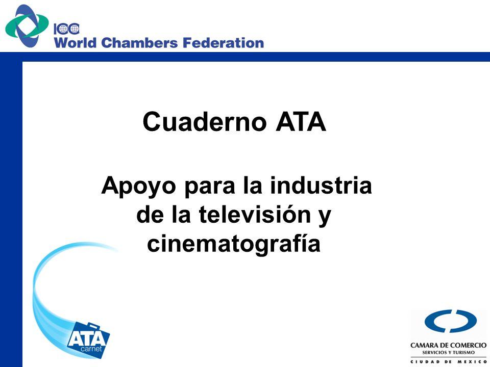 Cuaderno ATA Apoyo para la industria de la televisión y cinematografía