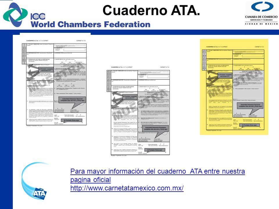 Cuaderno ATA. Para mayor información del cuaderno ATA entre nuestra pagina oficial.