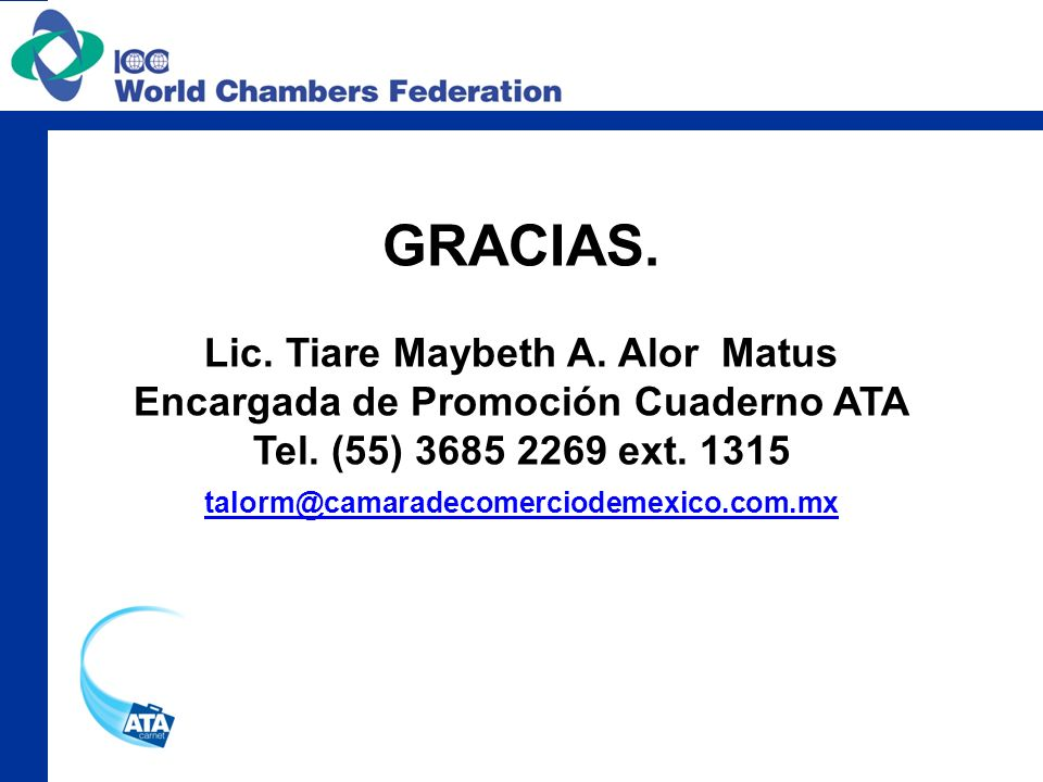 Lic. Tiare Maybeth A. Alor Matus Encargada de Promoción Cuaderno ATA