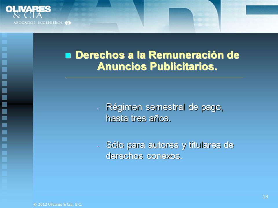 Derechos a la Remuneración de Anuncios Publicitarios.