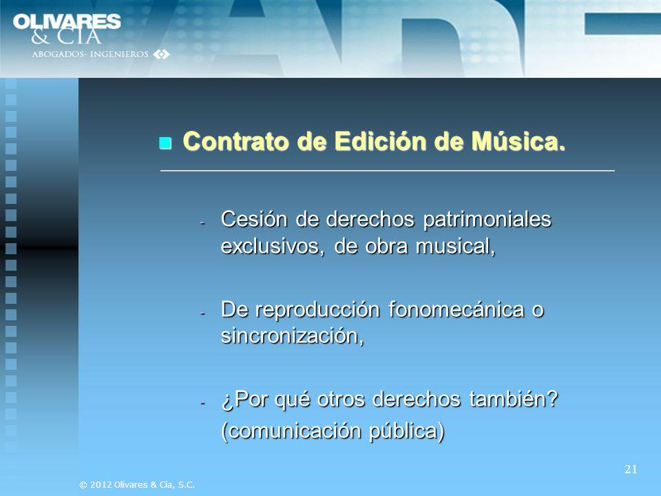Contrato de Edición de Música.