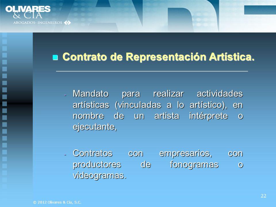 Contrato de Representación Artística.