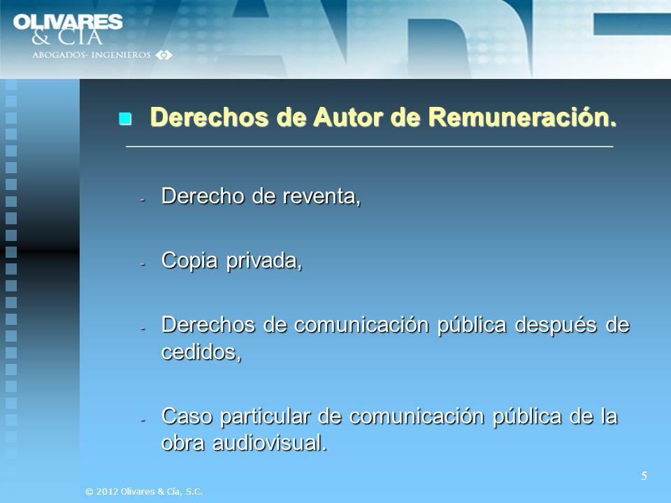 Derechos de Autor de Remuneración.