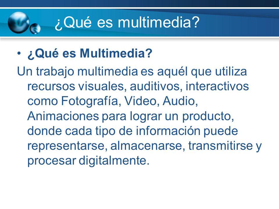 ¿Qué es multimedia ¿Qué es Multimedia