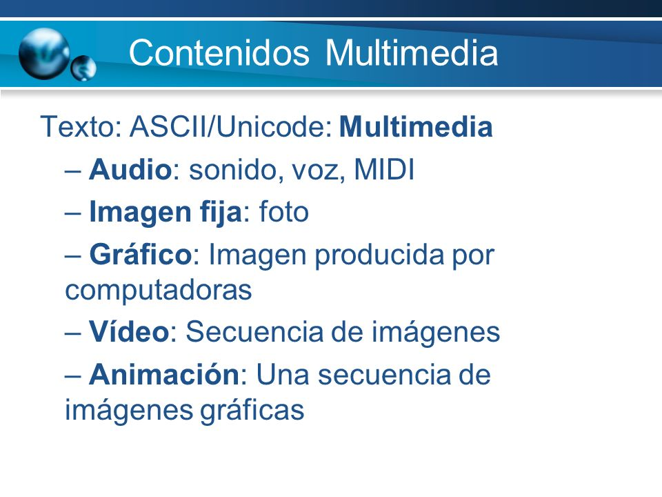 Contenidos Multimedia