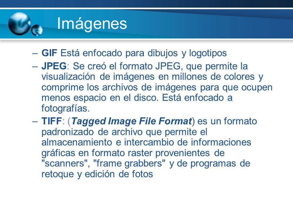 Imágenes GIF Está enfocado para dibujos y logotipos
