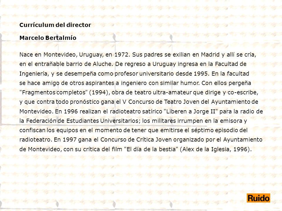 Currículum del director