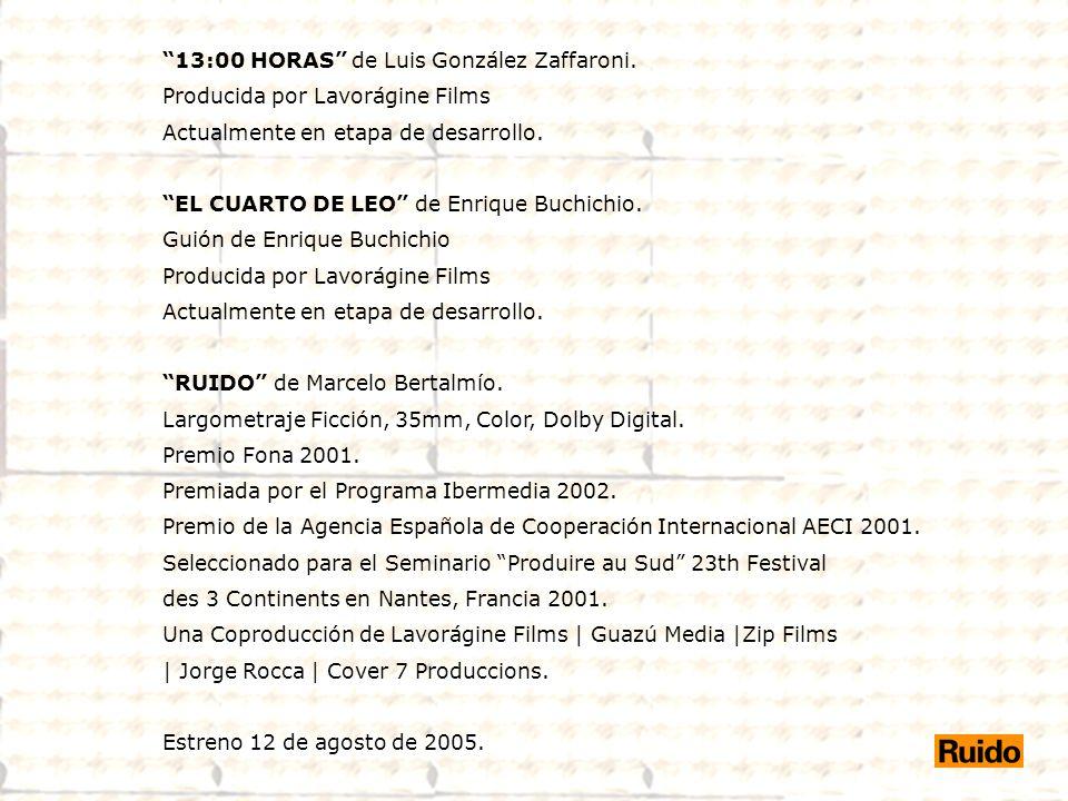 13:00 HORAS de Luis González Zaffaroni.