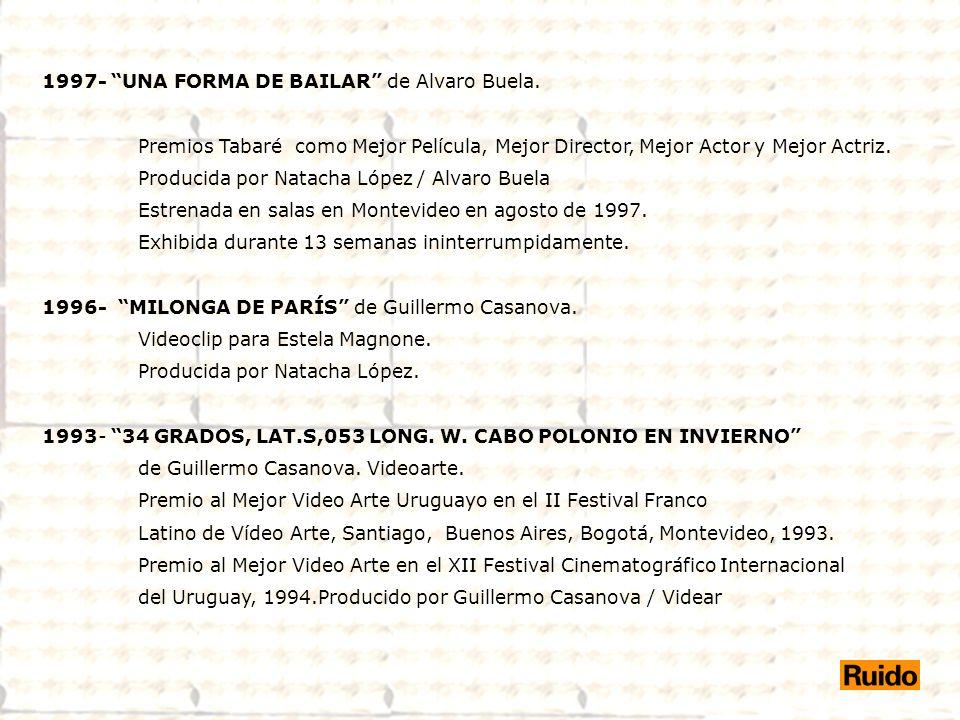 1997- UNA FORMA DE BAILAR de Alvaro Buela.