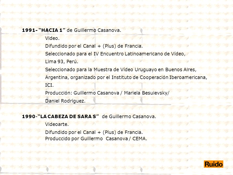1991- HACIA 1 de Guillermo Casanova.