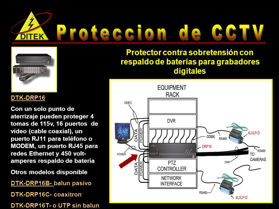 Proteccion de CCTV Protector contra sobretensión con respaldo de baterías para grabadores digitales.