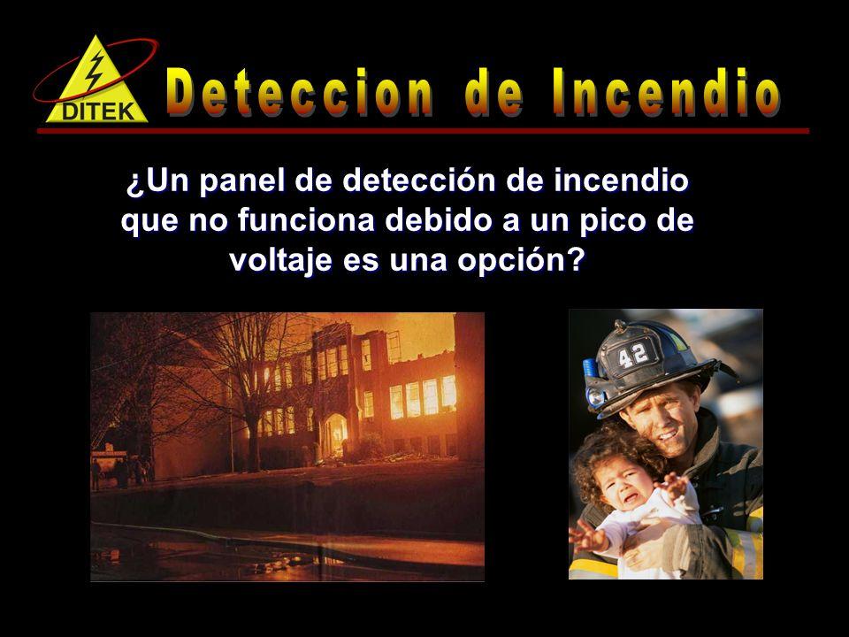 Deteccion de Incendio ¿Un panel de detección de incendio que no funciona debido a un pico de voltaje es una opción