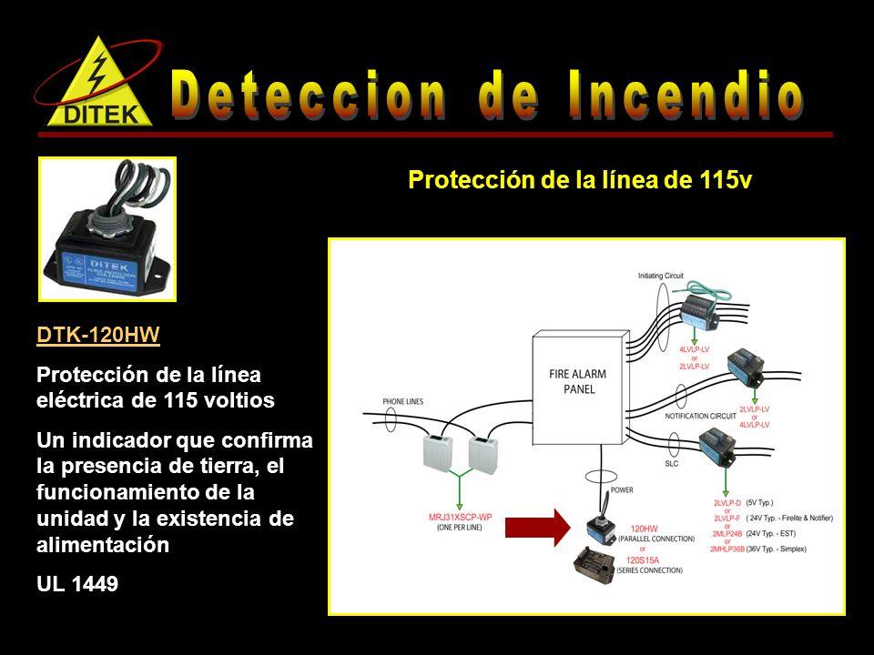 Protección de la línea de 115v