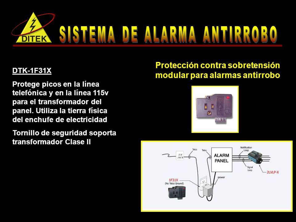 Protección contra sobretensión modular para alarmas antirrobo