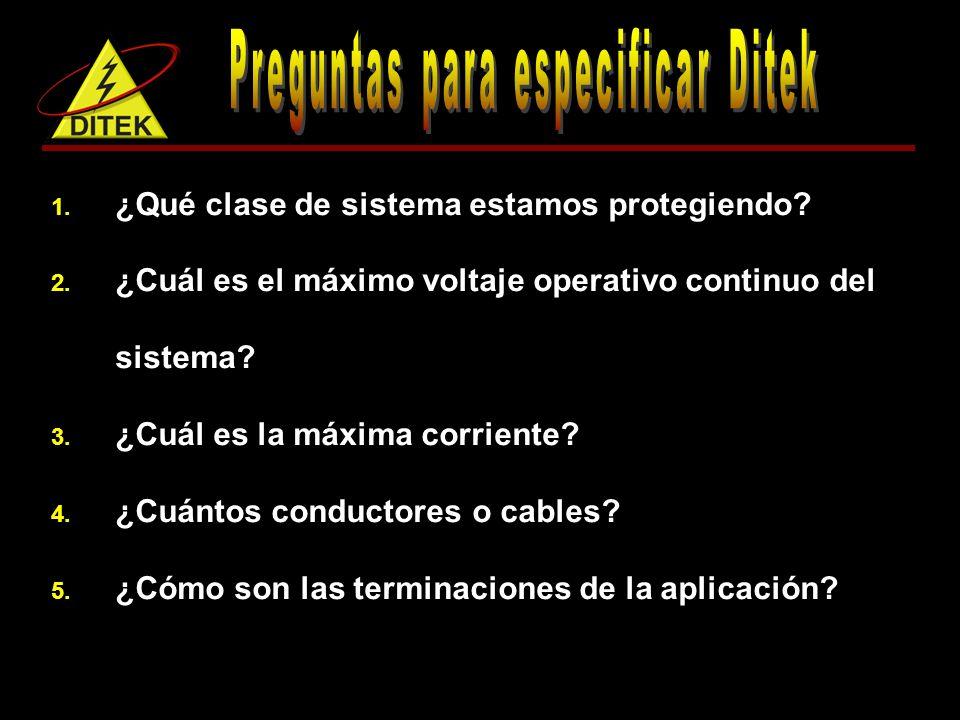 Preguntas para especificar Ditek