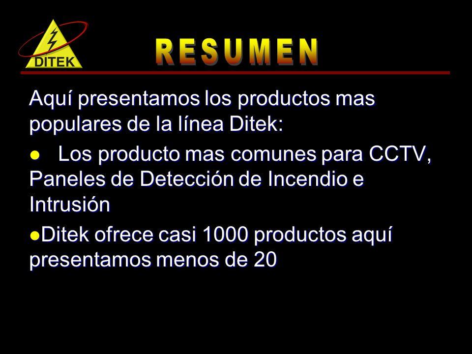 Aquí presentamos los productos mas populares de la línea Ditek:
