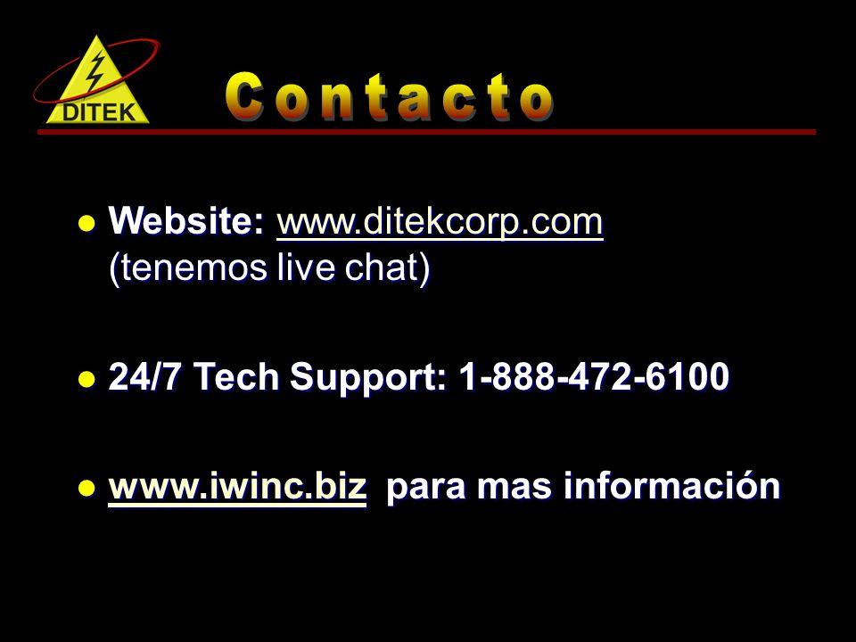 Website: www.ditekcorp.com (tenemos live chat)