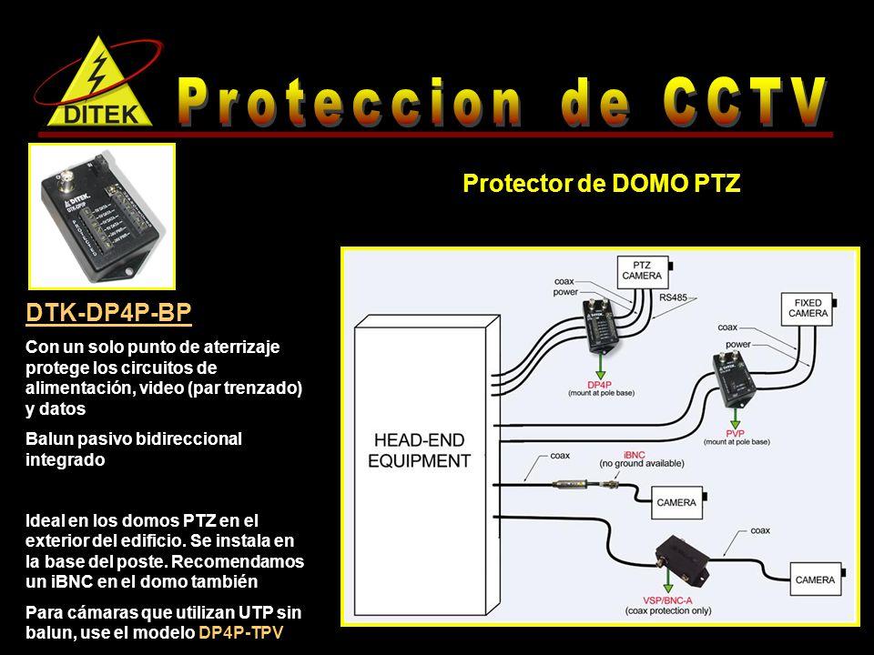 Proteccion de CCTV Protector de DOMO PTZ DTK-DP4P-BP